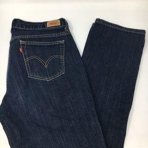 Levi's 505 straight leg dark blue jeans size 8L